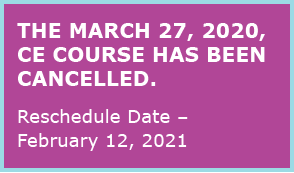 MARCH 27,2020 course cancelled