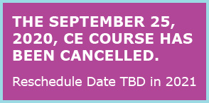 SEPTEMBER 25,2020 course cancelled