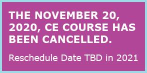 NOVEMBER 20,2020 course cancelled